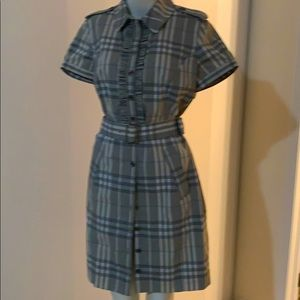 Burberry stripe dress with buttons down